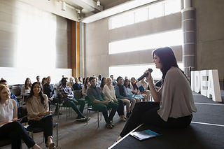 The Question & Answer session at a conference
