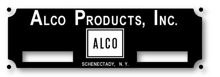 ALCO Products Builders Plate (Atlantic & Danville #2)