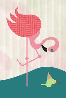 Flamingo had Icecream