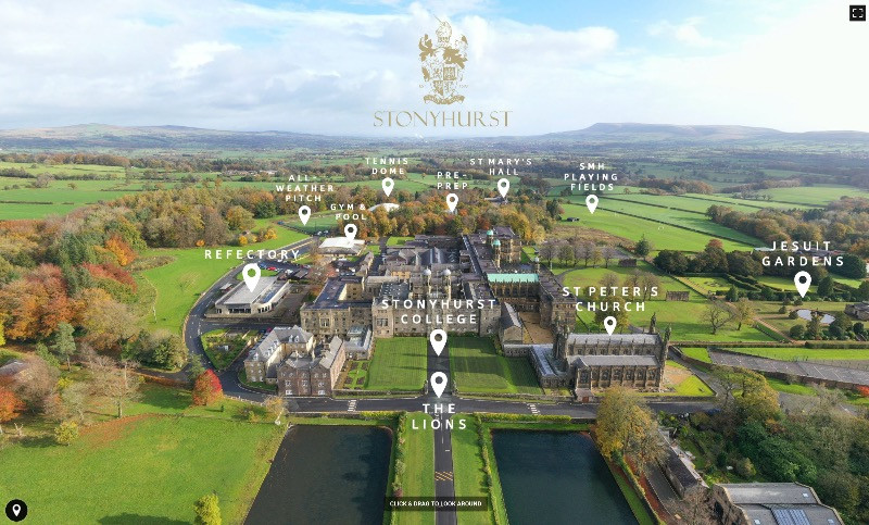 Stonyhurst College from the air