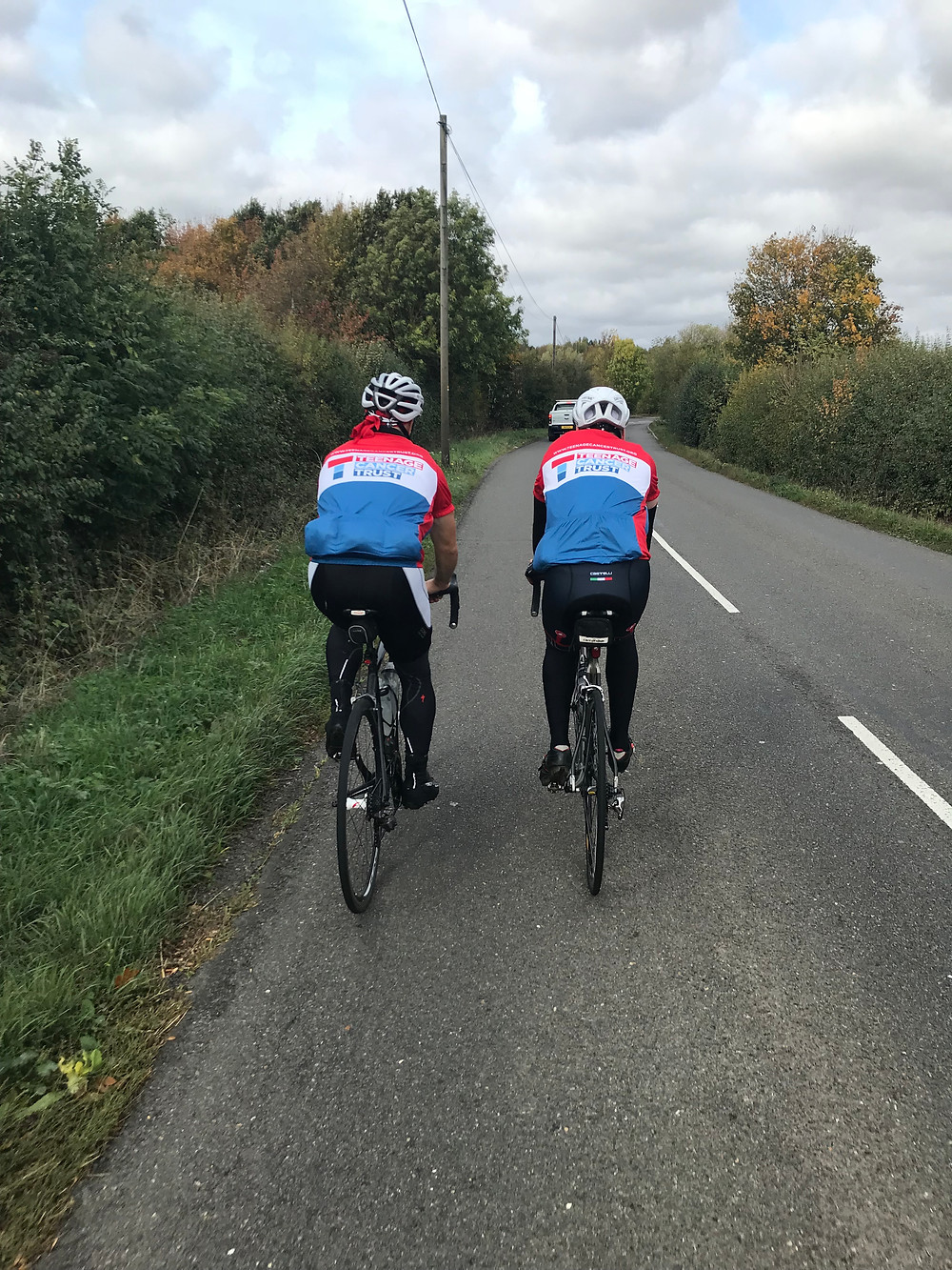 Cyclists riding for Teenage Cancer Trust