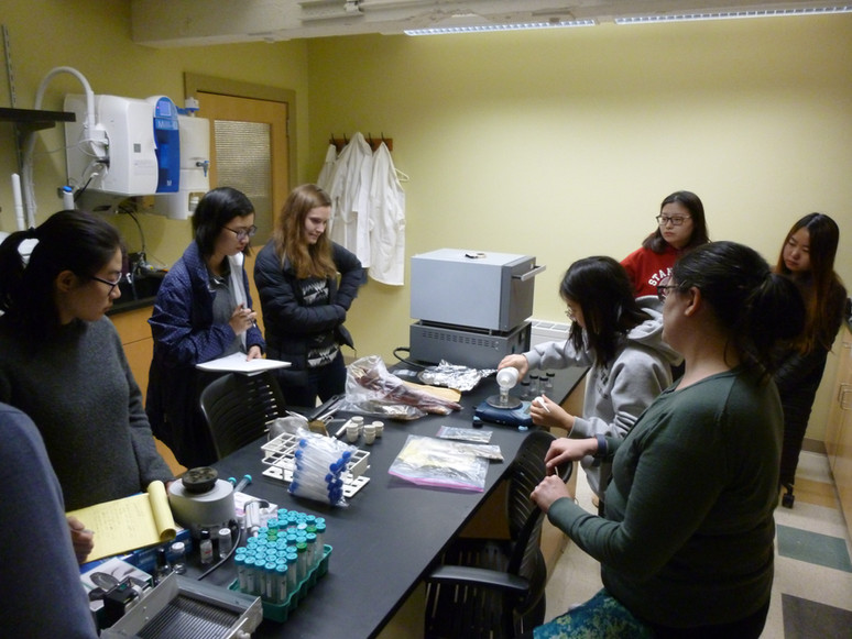 Archaobotany class- processing phytolith