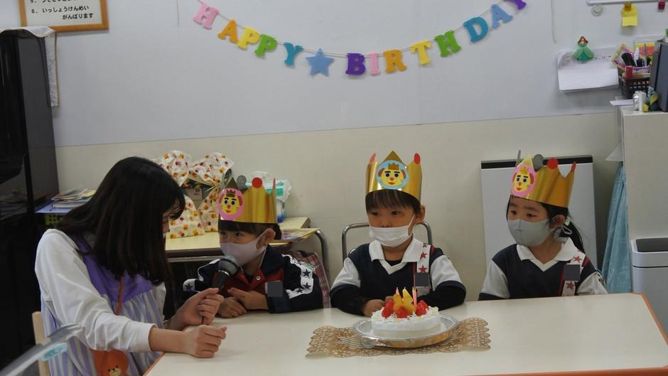 4月のお誕生会 誕生日おめでとうございます