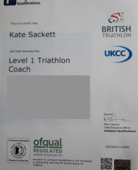 Kate becomes Tri-Coach