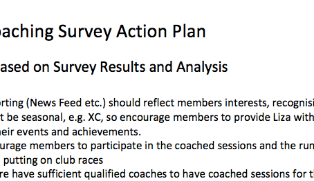 Club Coaching Survey Action Plan