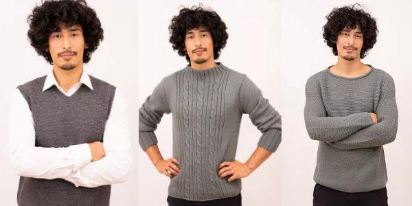 Herbstmode Strickbekleidung Herren
