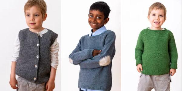 Herbstmode Strickbekleidung Jungs