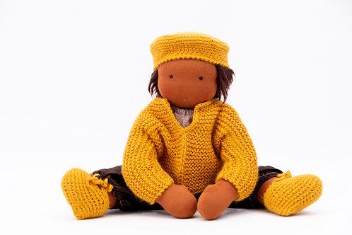 Gelbe Puppenkleidung - Größe 45 cm