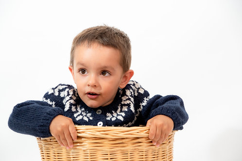Norweger Strickjacke oder Norweger Pullover aus Alpaka  | Alpakita Berlin | Kinderbekleidung | Strickmode
