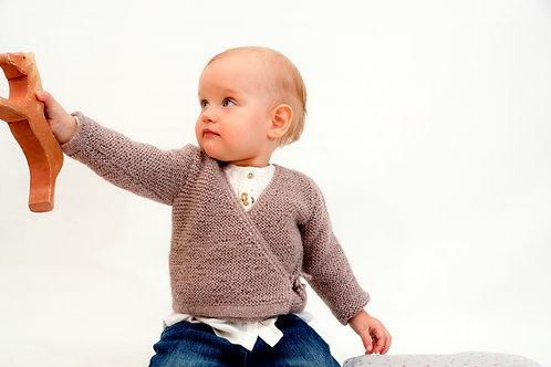 Babykleidung    Wickeljacke aus Alpakawolle    Babywelt Berlin    Strickmode