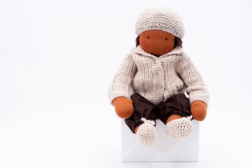 Puppenkleidung beige - Größe 35 cm