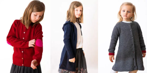 Herbstmode Strickbekleidung Mädchen