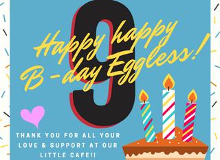 9 Eggless Years!!