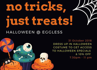 Halloween is back @ Eggless!!