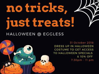 Halloween is back @ Eggless!!
