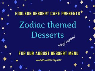 Zodiac desserts @ Eggless