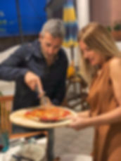 good food, good company, enjoyment cooking class, pizza class