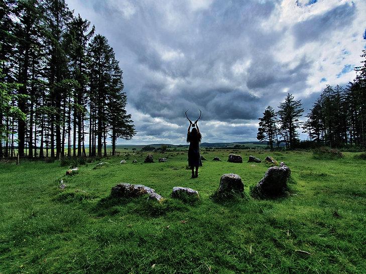 seer antlers stone circle pagan viking witch