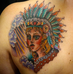 Full Color Indian Pinup Girl