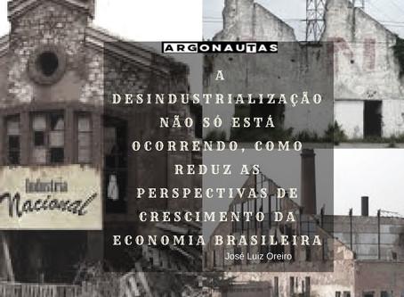 Lisboa, Oreiro e Fragelli sobre a Desindustrialização no Brasil (O Globo, 05/03/2018)
