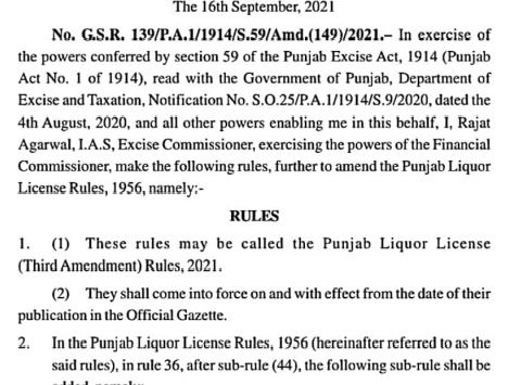 Major relief given to Liquor contractors/Vendors