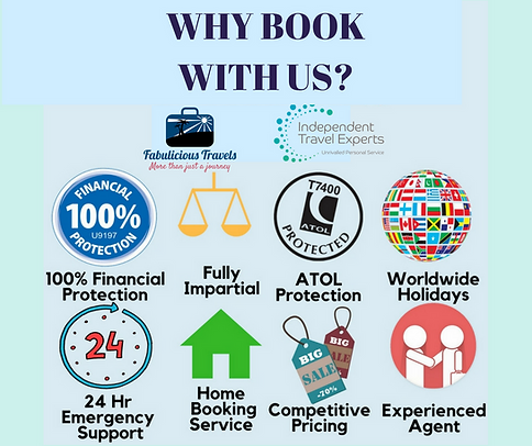 Why book your holidays with Fabulicious Travels.
