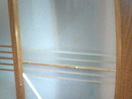 犬山市 室内 引き戸 割れかえ カーブしているガラス