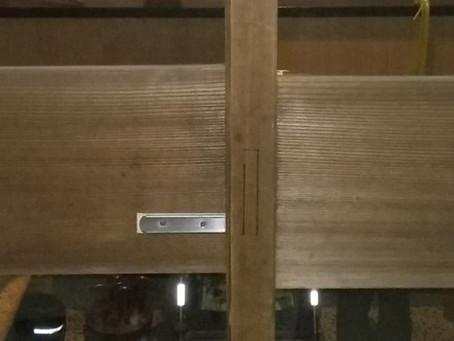 角田市 木製引戸 鍵 新規取り付け