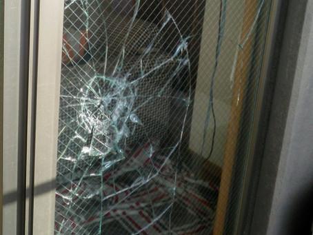 名古屋市港区 掃き出し窓 割れかえ FIX窓