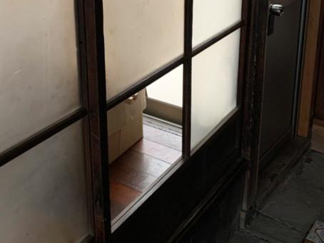 北名古屋市 室内 引き戸 すりガラス割れかえ