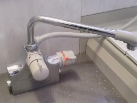 横浜市保土ヶ谷区 浴室 水栓 水漏れのため水栓交換