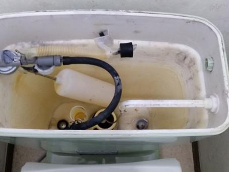 尾張旭市 トイレ 便器内に水が流れ続ける オーバーフロー管 ボールタップ交換