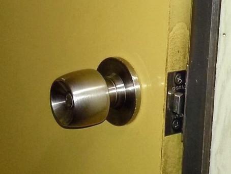 多賀城市 トイレ ドアノブ 交換 非常解錠装置付き