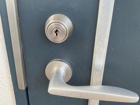 小牧市 玄関 鍵交換 防犯性の高いものに交換