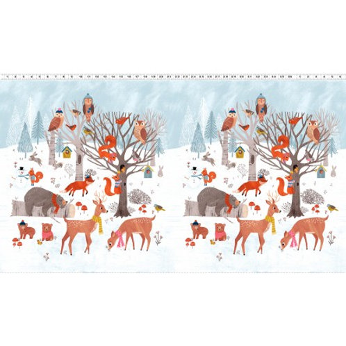 Dreaming of Snow Panel- Clothwork Fabrics