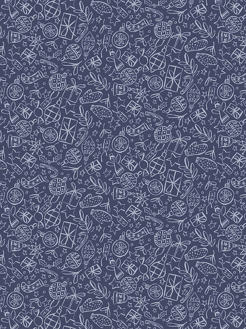 Festive Shine Blue- Liberty Fabrics