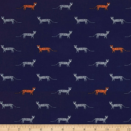 You're a Cheetah Navy- Michael Miller Fabrics