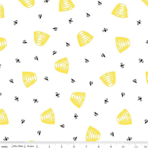 Honey Ru, White Bee Hive- Penny Rose Fabrics