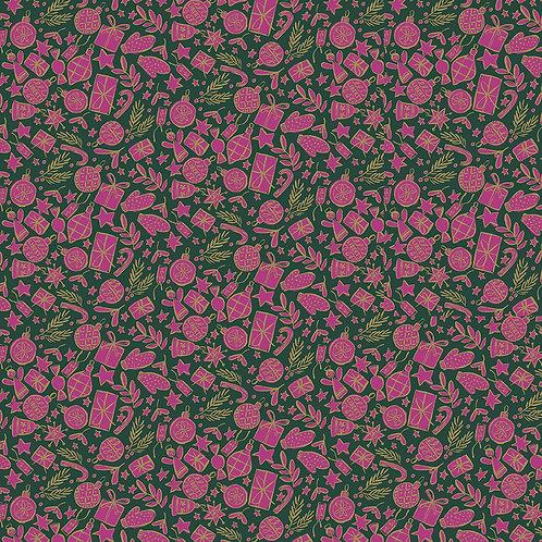 Festive Cheer Burgundy- Liberty Fabrics