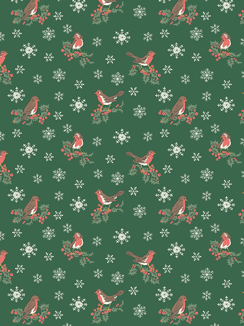 Jolly Robin Green- Liberty Fabrics