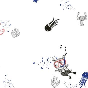 Jersey White Seaworld- Katia Fabrics