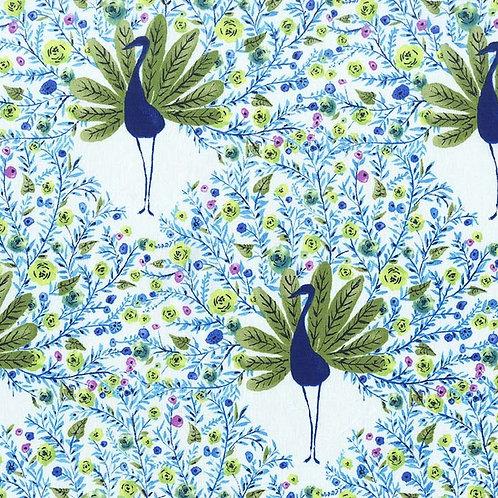 Fan-tasy Peacock- Michael Miller Fabrics