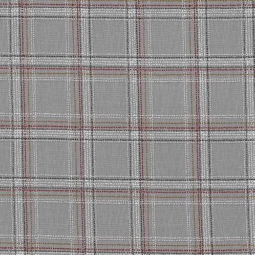 Spotted Tartan Stone - Michael Miller Fabrics