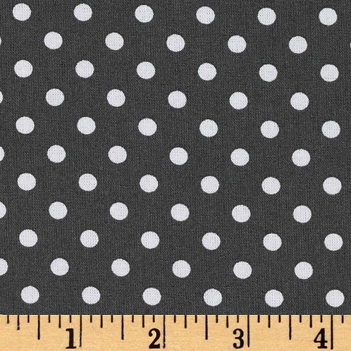 Dumb Dot Charcoal- Michael Miller Fabrics
