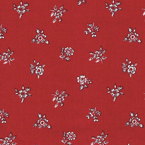 Abbeywood Red, Winter Flower Garden- Liberty Fabrics