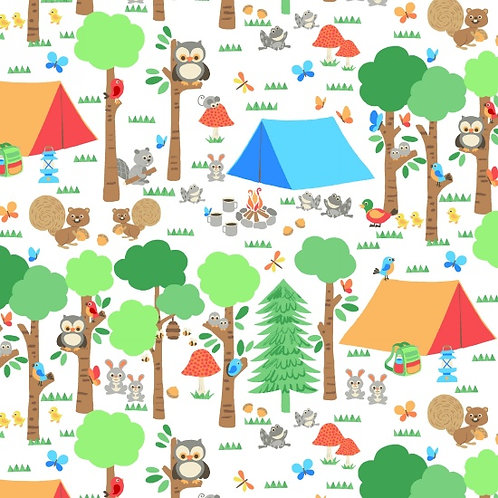 Camping Club, Camping Pitch- Blank Quilting Fabrics