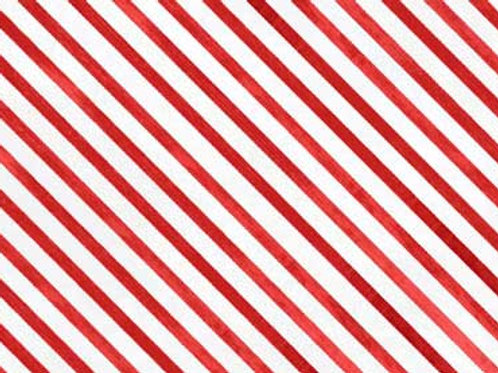 Red Rooster Fabric- Snow Fun Red Stripe