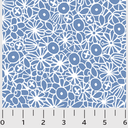 Urban Scandinavian, Blue Floral- P&B Fabric