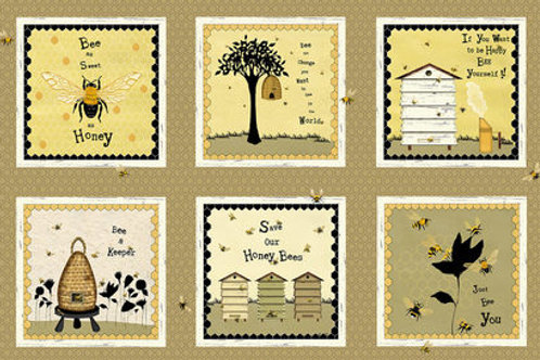 Bee A Keeper Panel- Studio E Fabric