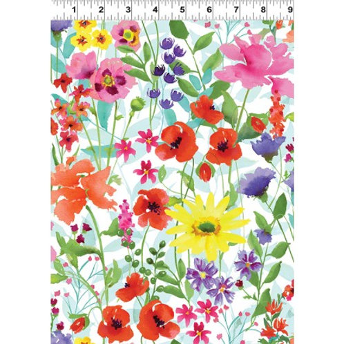 Spring Meadow CWY2095-1- Clothworks Fabric
